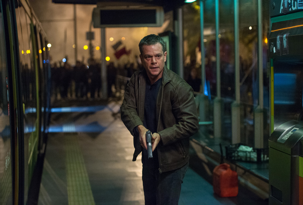 "In this image released by Universal Pictures, Matt Damon appears in a scene from ""Jason Bourne."" (Jasin Boland/Universal Pictures via AP)"